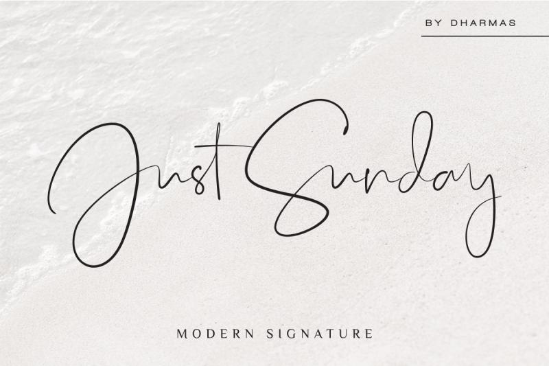just-sunday-family-modern-script