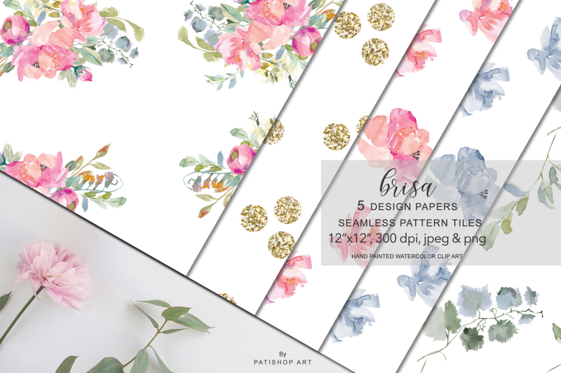 watercolor-blush-flowers-digital-design-paper-pack