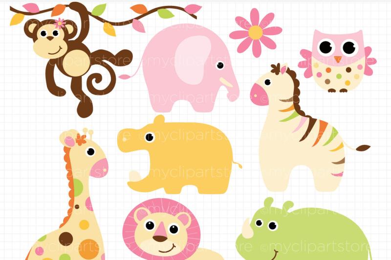 safari-animals-clipart-baby-girl-vector-clipart