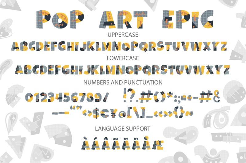 pop-art-svg-font-collection