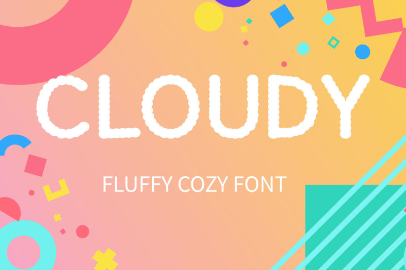 cloudy-display-font