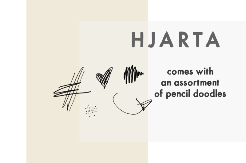 hjarta-a-pencil-drawn-font-trio