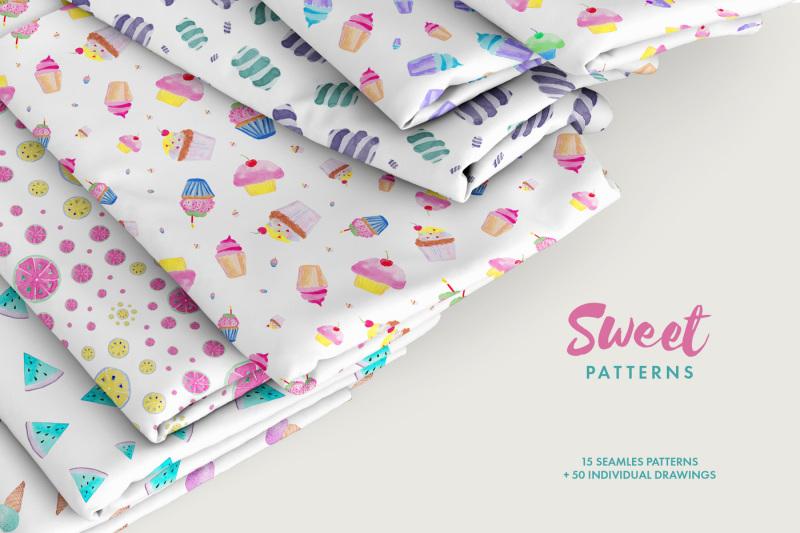 watercolor-sweet-patterns