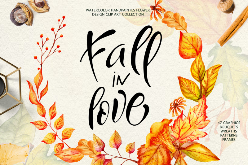 fall-in-love-watercolor-clipart
