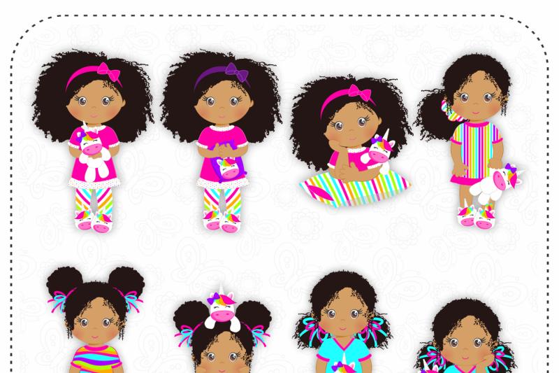 unicorn-pajamas-african-american-girls