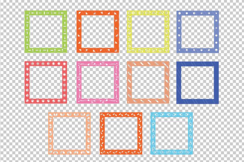 square-monogram-frame-svg-dxf-bundle