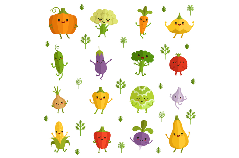 vegetables-characters-with-funny-emotions