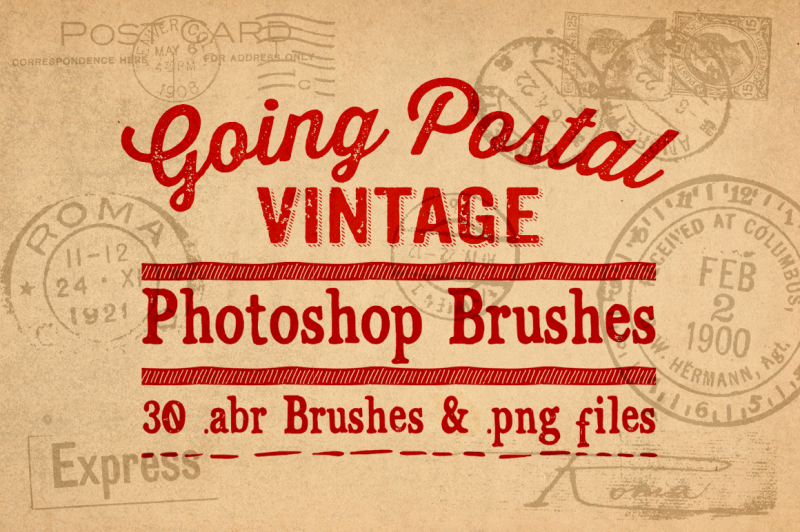 going-postal-vintage-photoshop-brushes