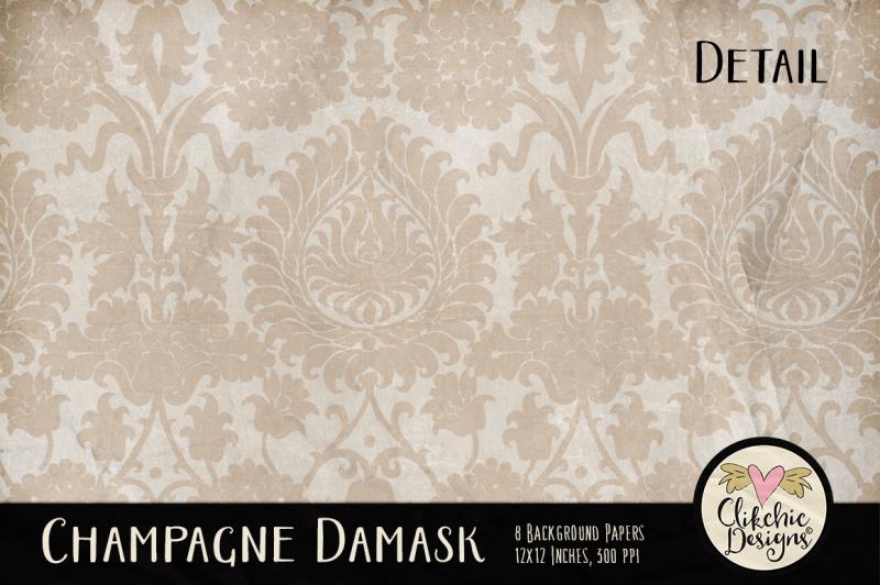 champagne-wedding-damask-textures