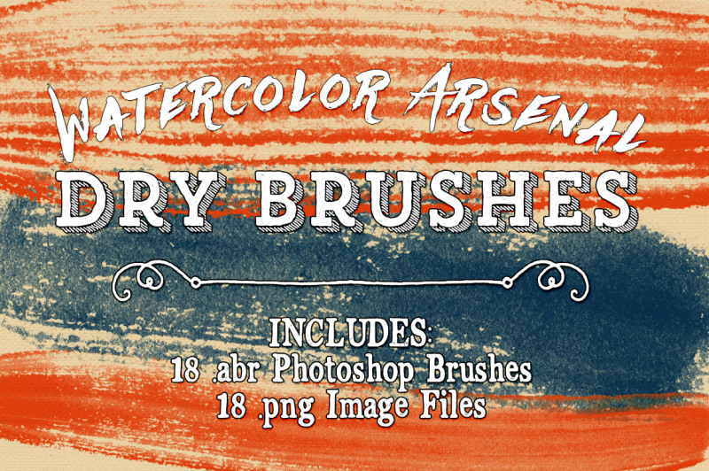 watercolor-arsenal-dry-photoshop-brushes