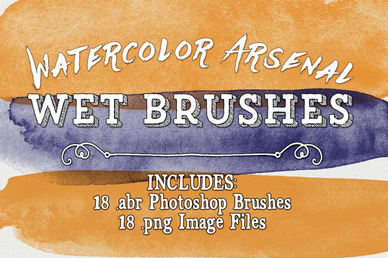watercolor-arsenal-wet-photoshop-brushes