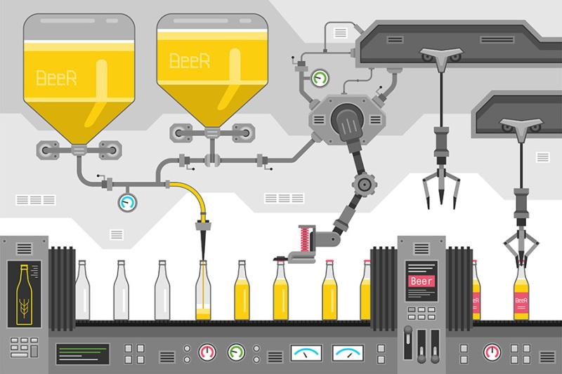 beer-bottles-on-the-conveyor
