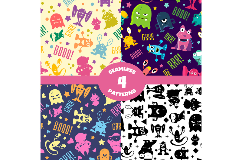 seamless-patterns-set-with-cute-cartoon-monsters