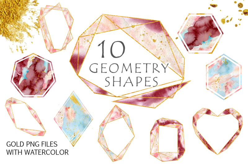gold-geometry-shapes-with-watercolor-vol-3