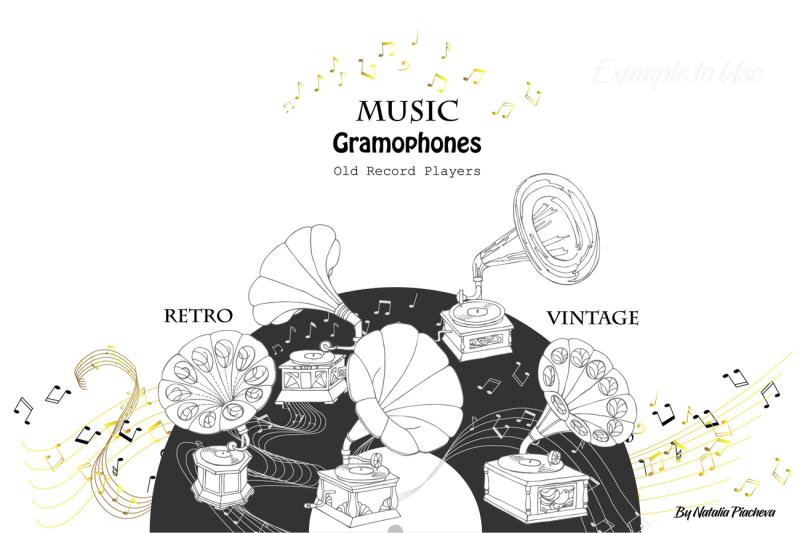 music-and-gramophones-digital-clip-art