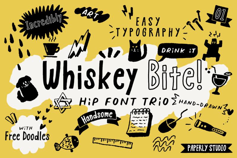 whiskey-bite-hip-font-trio
