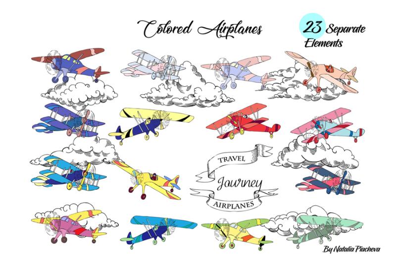 airplanes-digital-clip-art