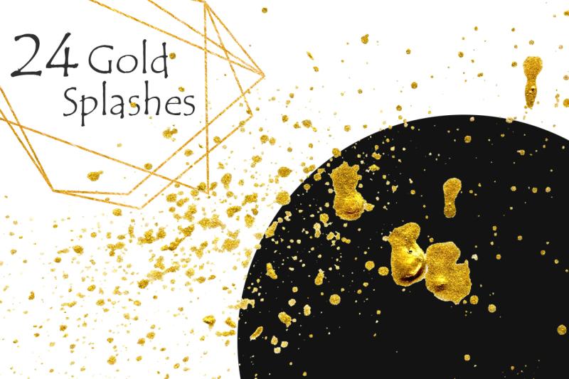 gold-clipart-brush-strokes-stripes-shapes-splashes-digital-design-r