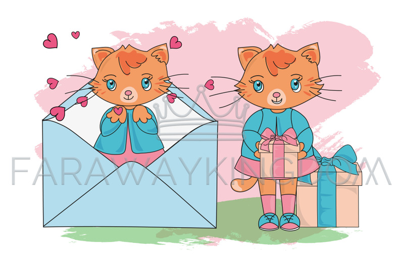 cute-kitty-vector-illustration-seamless-pattern-and-animation-set
