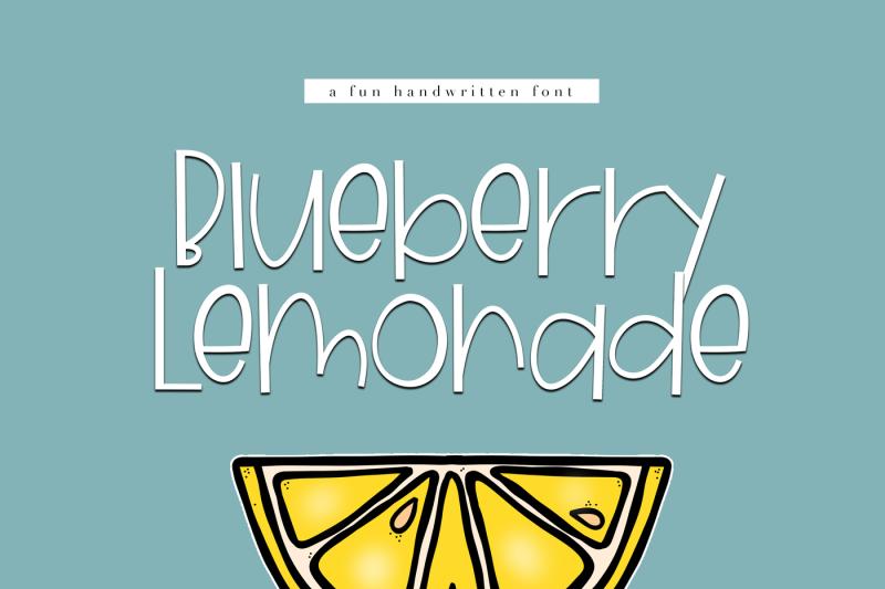 خط انجليزي جميل Blueberry Lemonade