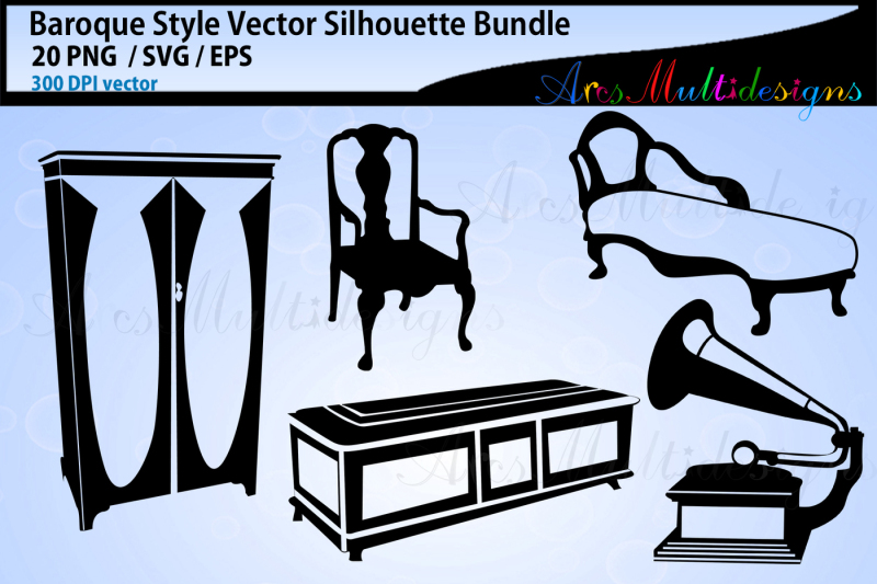 baroque-elements-and-objects-svg-vector-silhouette-furniture-svg