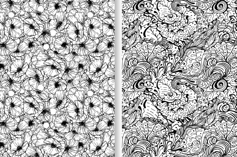 monochrome-patterns-collection