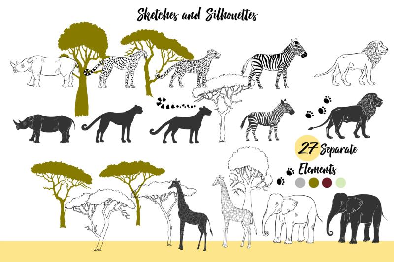savanna-animals-digital-clip-art-zebra-lion-cheetah-elephant-gira