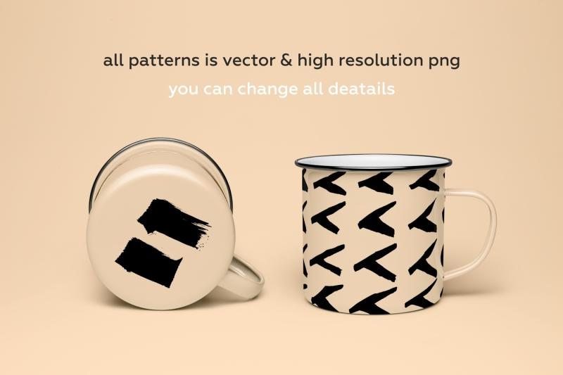 look-black-hand-drawn-brush-pattern