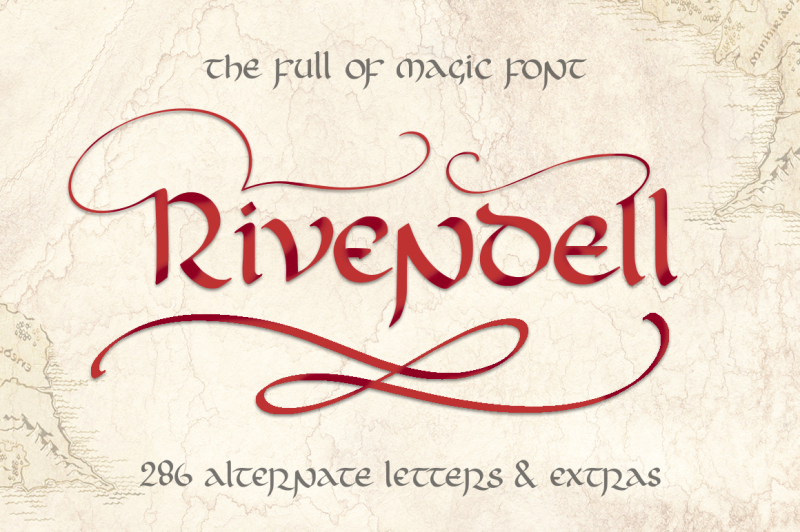 rivendell-full-of-magic-font