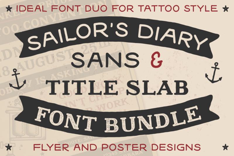 sailors-diary-font-bundle