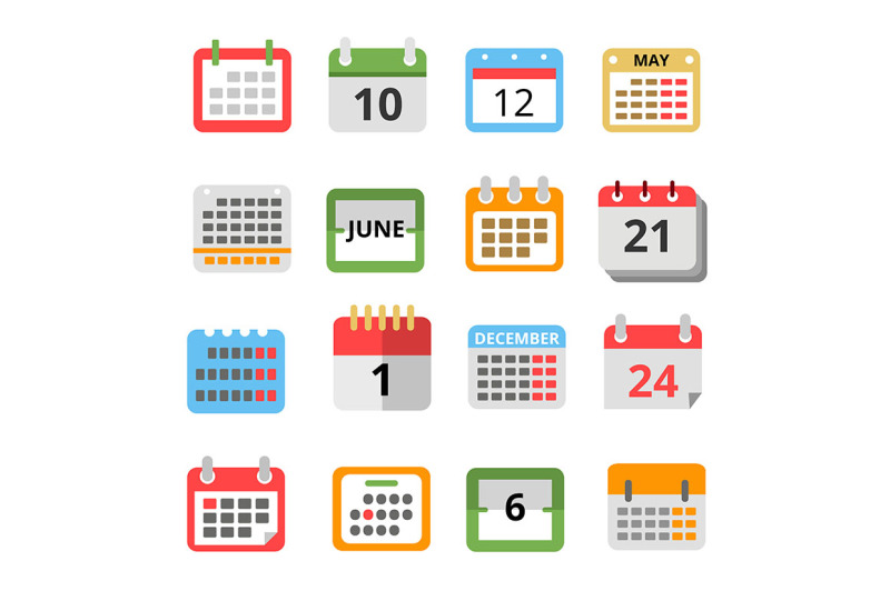 set-of-different-calendars-in-flat-style