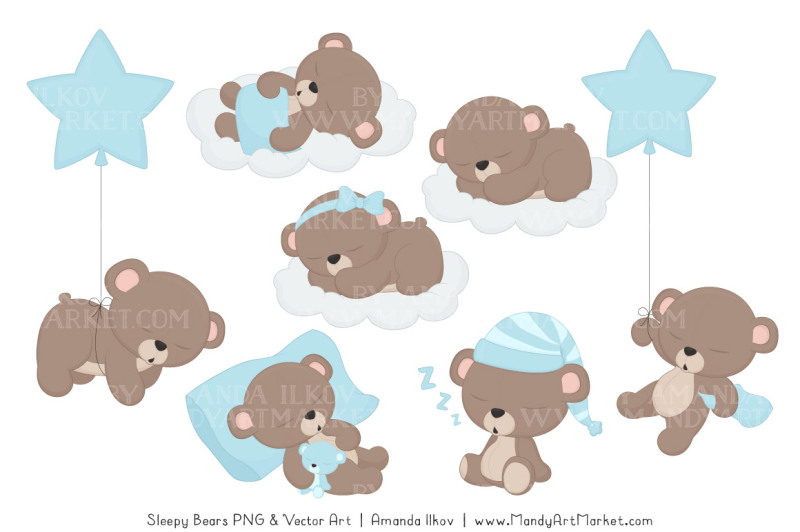 beary-cute-sleepy-bears-clipart-and-papers-set-in-soft-blue