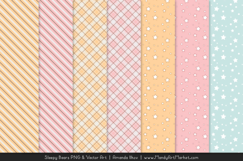 beary-cute-sleepy-bears-clipart-and-papers-set-in-soft-pink