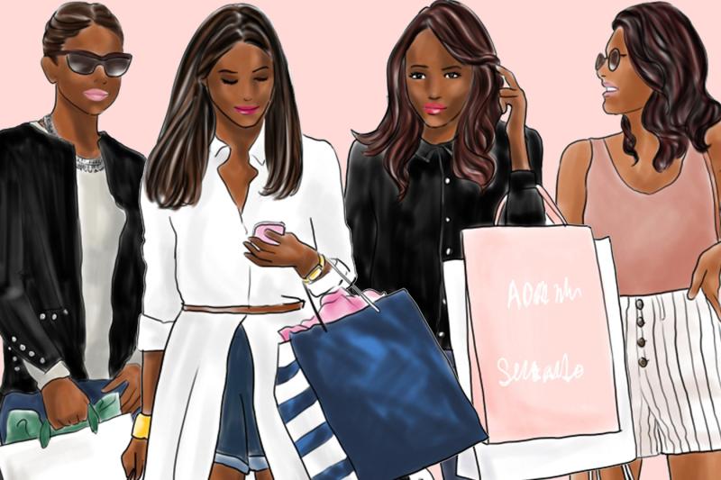 watercolor-fashion-clipart-shopping-girls-2-dark-skin