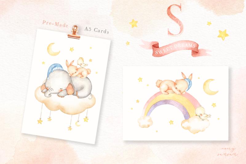 sweet-dreams-watercolor-clip-art