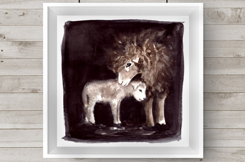 watercolor-mother-and-baby-sheep-clip-art-and-print