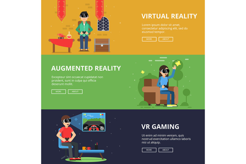 horizontal-banners-of-funny-people-which-plays-in-vr-helmet