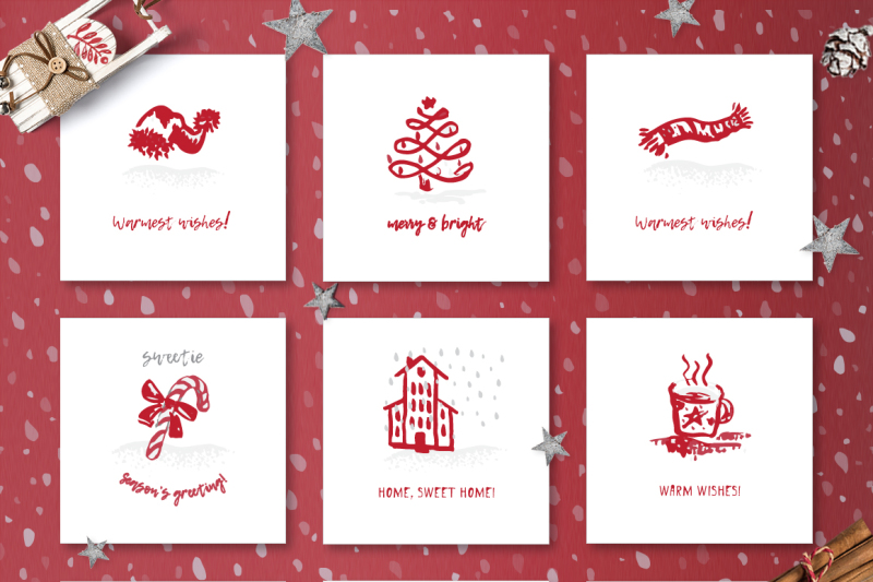 Christmas And Happy New Year Cards By Zimages Thehungryjpeg Com