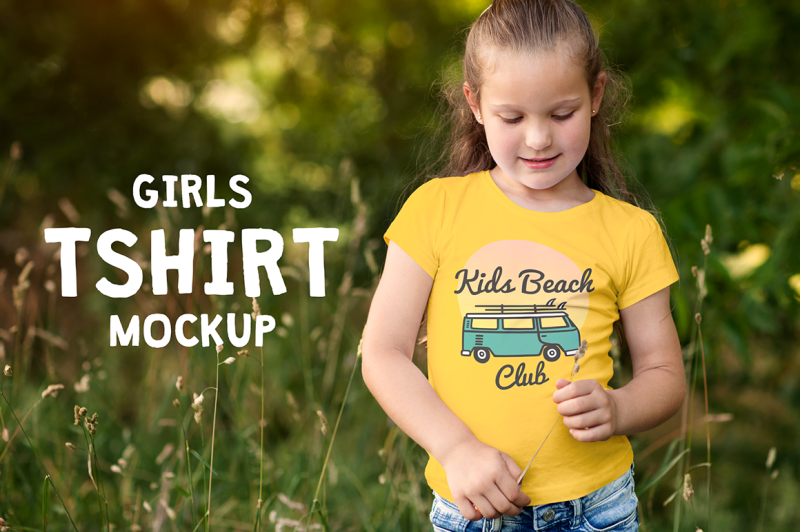 Free Girls T-shirt Mock-up (PSD Mockups)