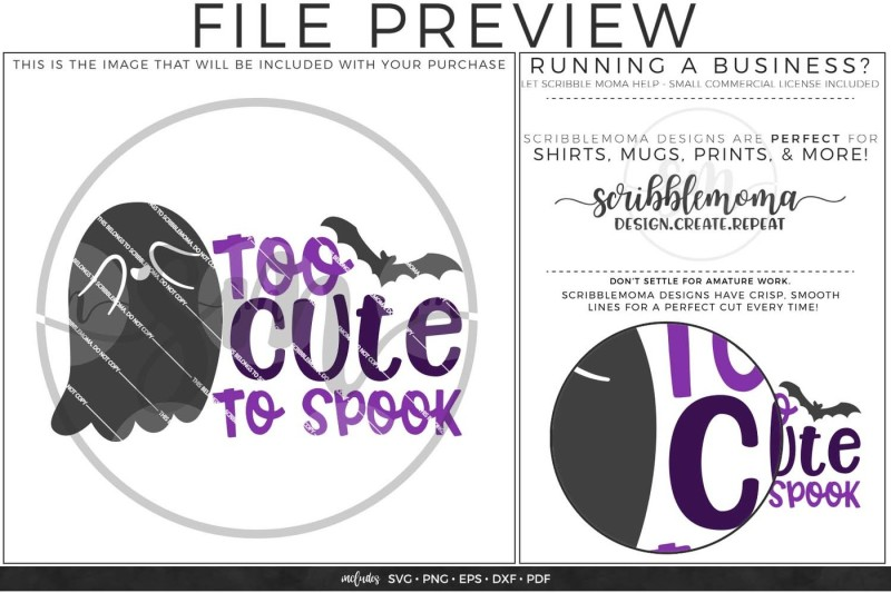 Too Cute To Spook Svg By Scribblemoma Graphics Thehungryjpeg Com
