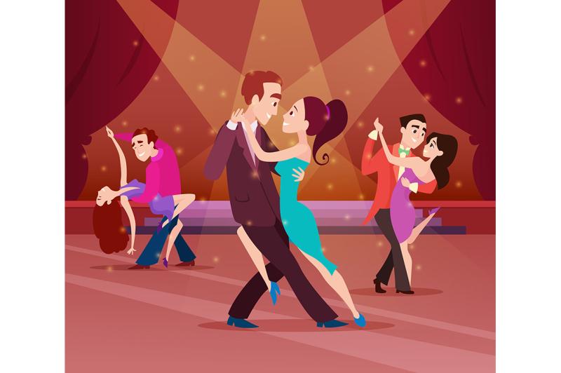couples-on-dance-floor-cartoon-characters-dancing