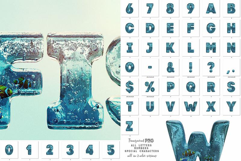 aqua-3d-lettering