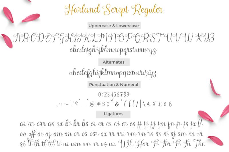 harland-script-reguler-and-slant