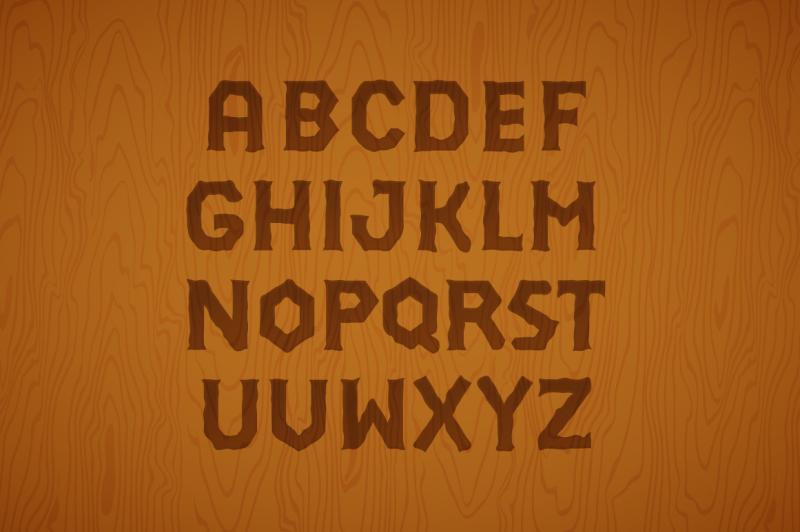3d-font-set-gold-wood-silver