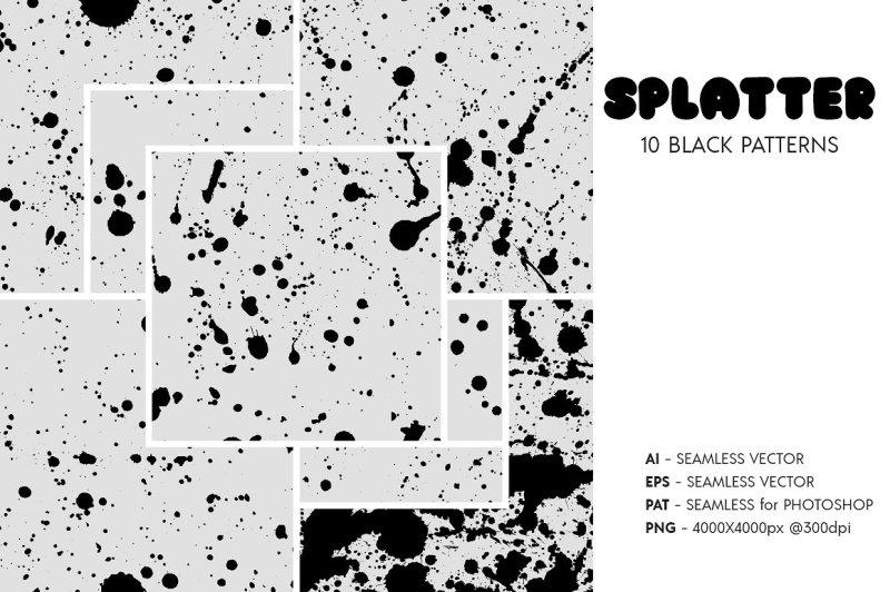 splatter-spray-seamless-patterns