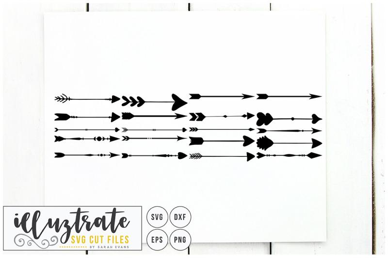 arrows-svg-cut-files-clipart-set-dxf-vector-png