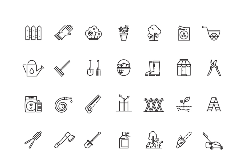 gardening-and-seeding-vector-line-thin-icons