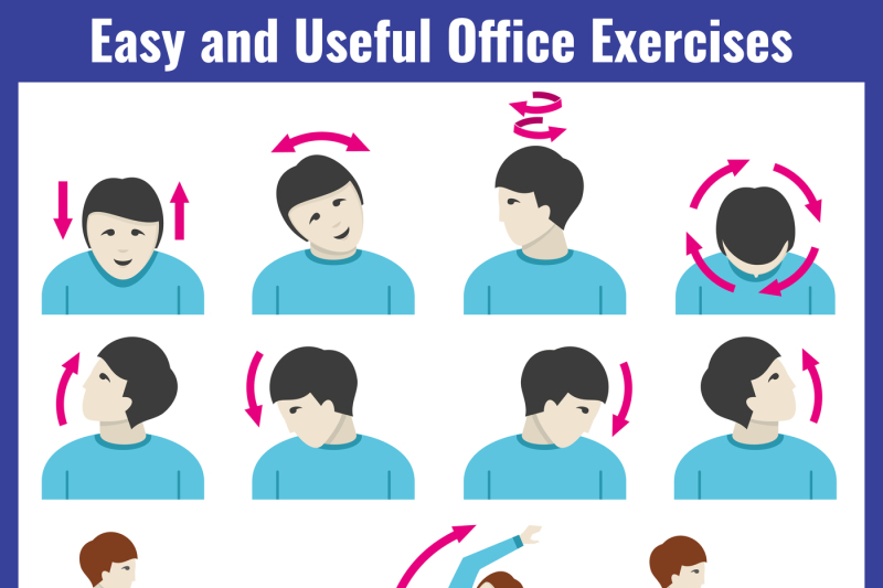 office-syndrome-health-care-concept-vector-infographic
