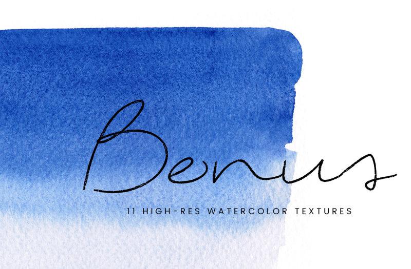 le-kilimanjaro-bonus-watercolor-textures