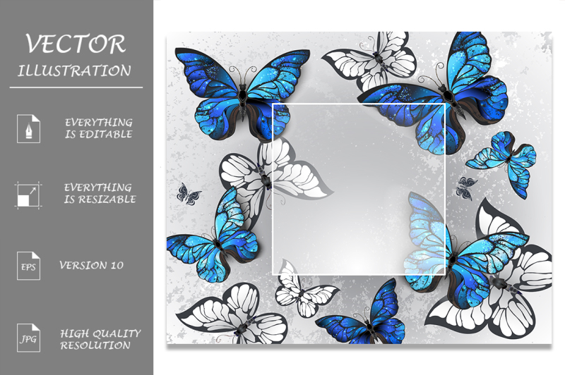 square-banner-with-blue-butterflies